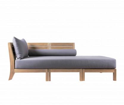Meridiana diván de teca