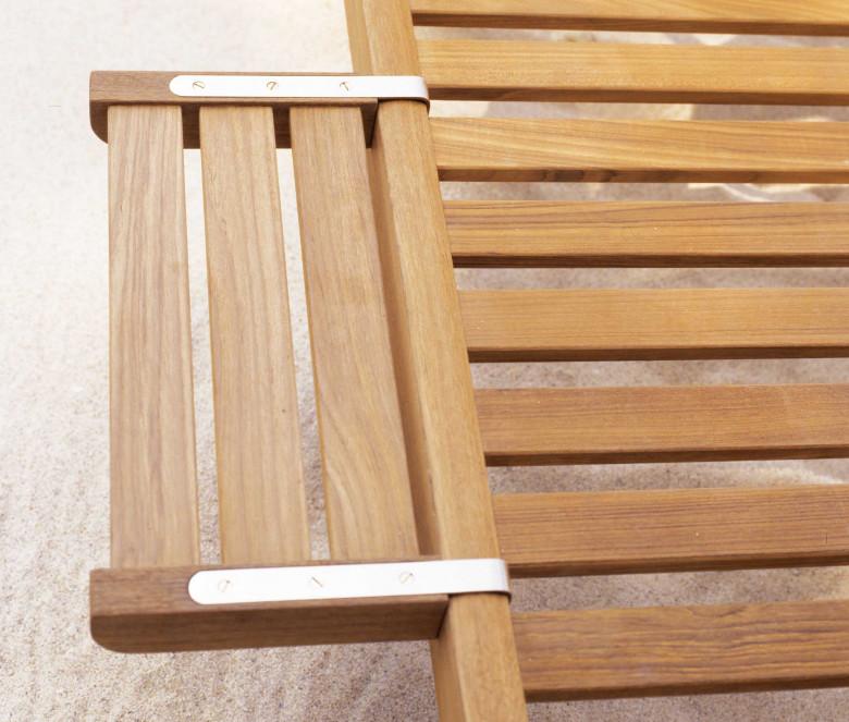 Bandeja chaise-longue de teca