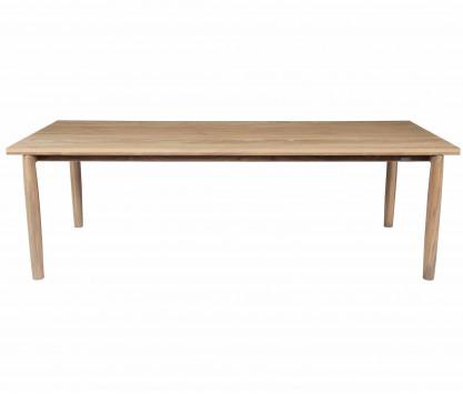 Mesa rectangular de teca