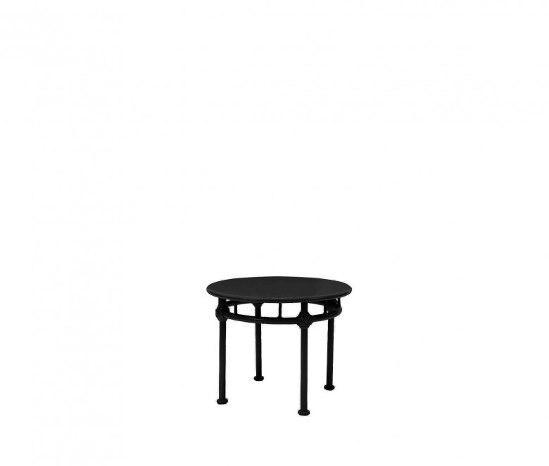 Mesa baja redonda de aluminio - NEGRO