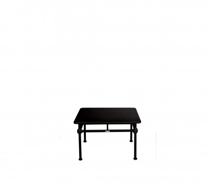 Mesa auxiliar de aluminio 75 x 75 cm - NEGRO