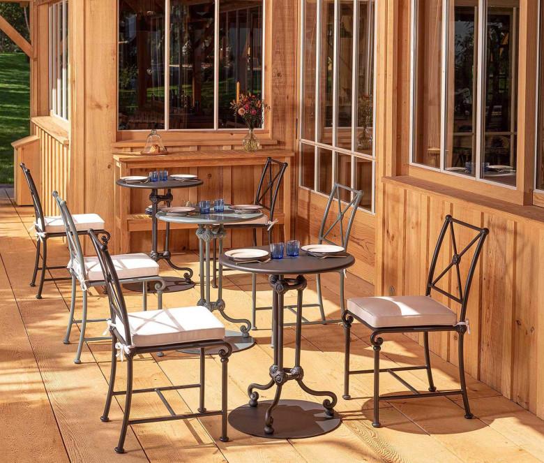 Mesa de restaurante de aluminio - NEGRO