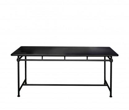 Mesa rectangular de aluminio 180 x 90 cm - NEGRO