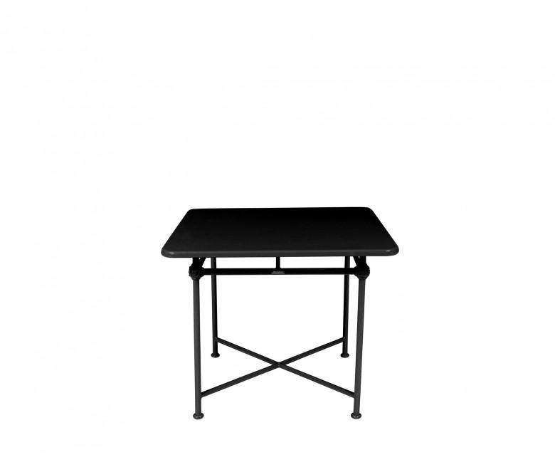 Mesa cuadrada de aluminio 90 x 90 cm - NEGRO