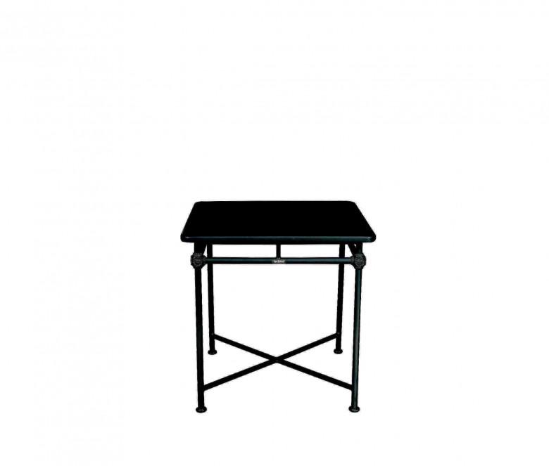 Mesa cuadrada de aluminio 75 x 75 cm - NEGRO