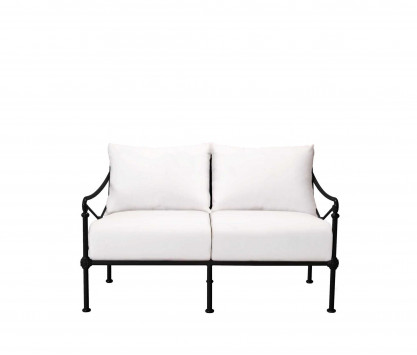Sofá 2 plazas de aluminio - NEGRO
