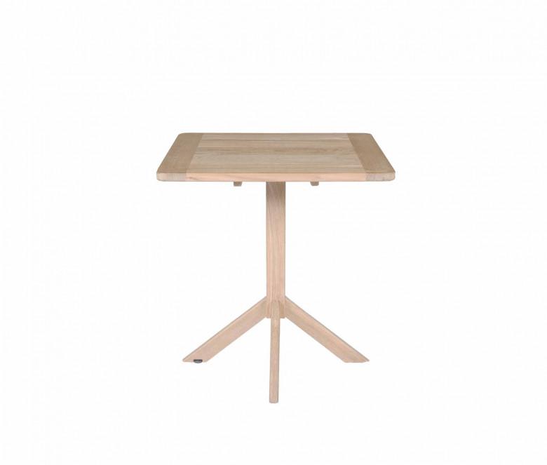 Table carrée en teck 70 x 70 cm