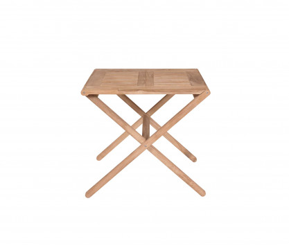 Table pliante en teck 80 x 70 cm