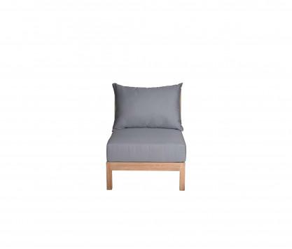 Canapé d'assise modulable Sunbrella gris ardoise