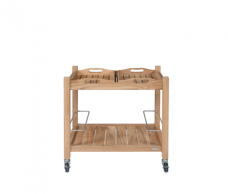 Table roulante en teck
