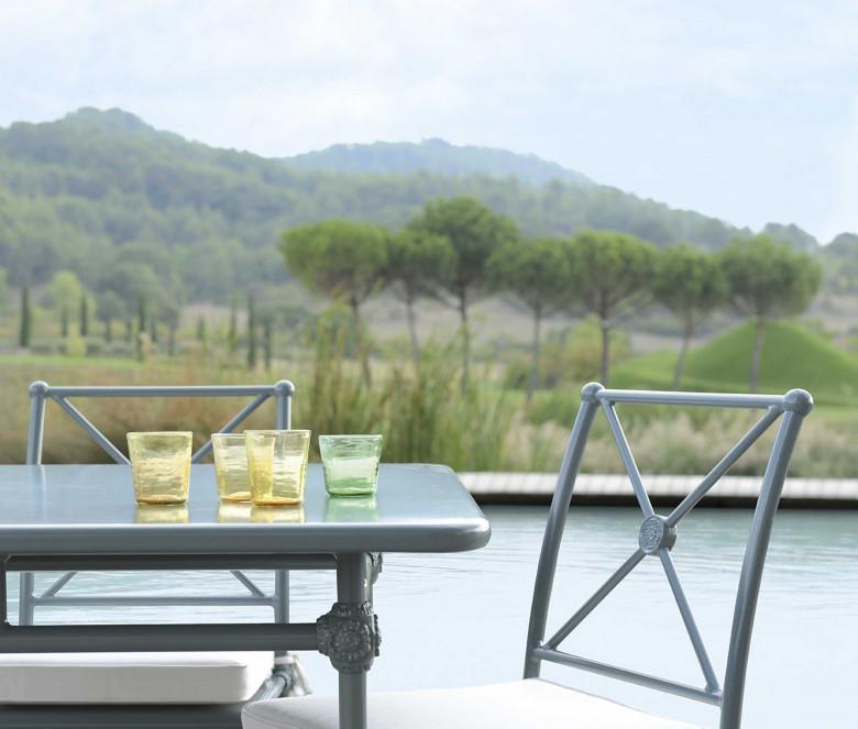Chaise de jardin en aluminium - 1800 BLEU