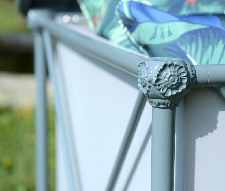 Coffre de jardin étanche en aluminium - 1800 BLEU