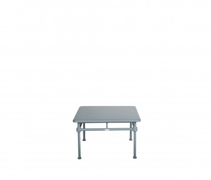 Table basse carrée en aluminium 75 x 75 cm - BLEU