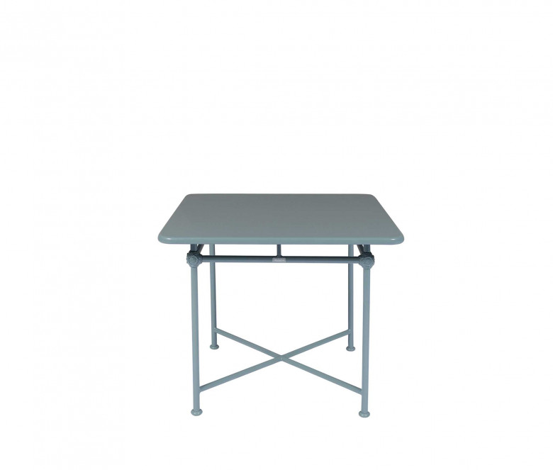 Table carrée en aluminium 90x90cm - 1800 BLEU
