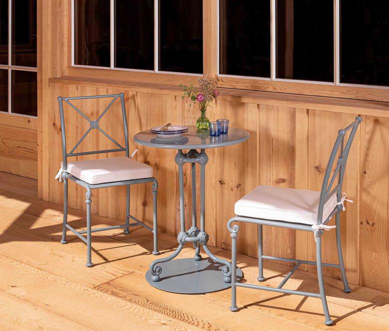 Table bistrot en aluminium - 1800 Bleu