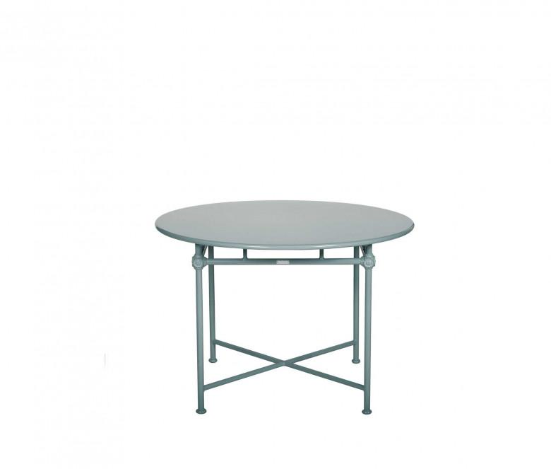 Table ronde Ø 110 cm en aluminium - 1800 BLEU