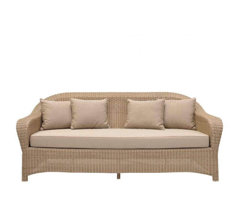 Canapé 3 places en résine tressée - Colonial