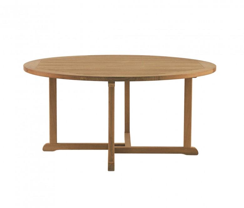 Table ronde en teck Ø 150 cm