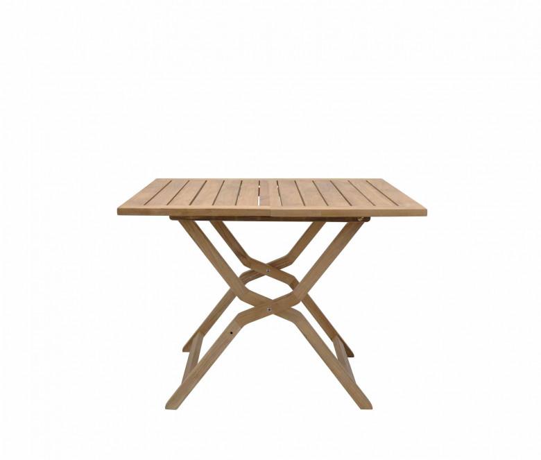 Table pliante en teck 100 x 100 cm