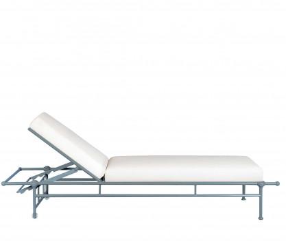 Chaise longue de jardin en aluminium - BLEU