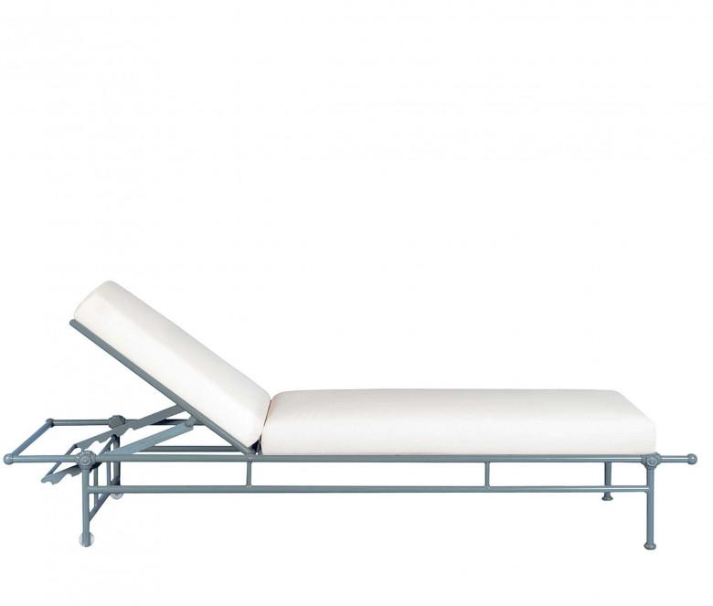 Chaise longue de jardin en aluminium - 1800 BLEU