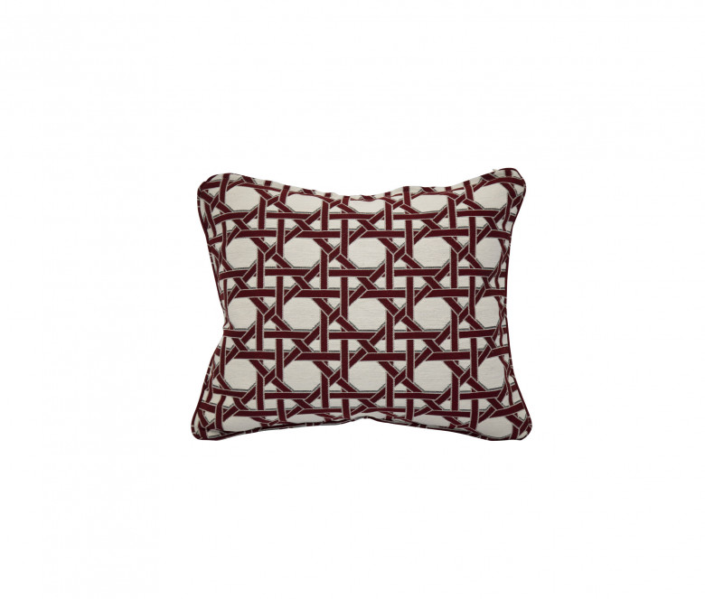 Coussin d'appoint Cannage Coral rouge