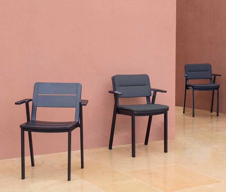 Coussin pour chaise et fauteuil en aluminium - Clubhouse