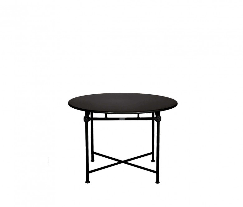 Table ronde en aluminium Ø 110 cm - NOIR