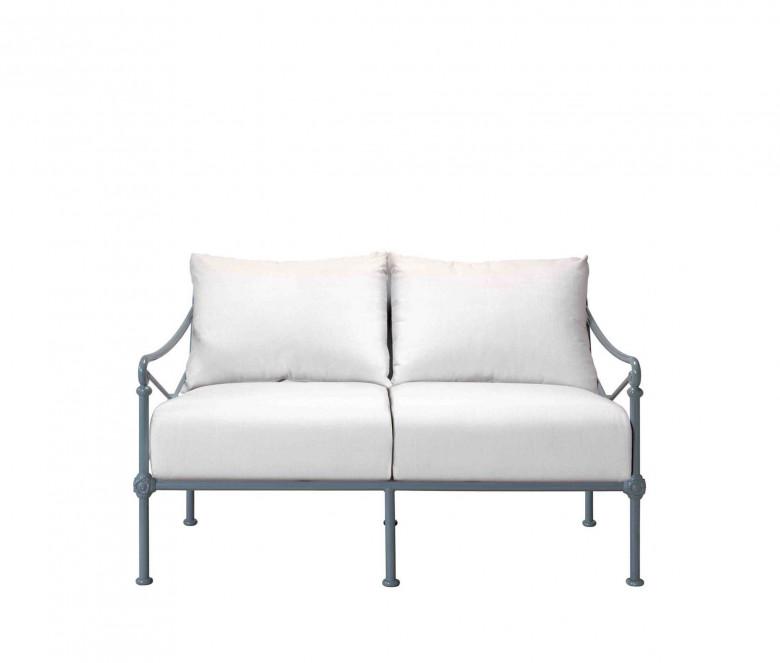 Canapé de jardin en aluminium 2 places - 1800 BLEU