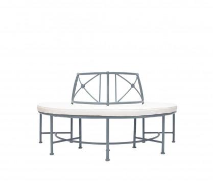 Banc semi-circulaire en aluminium - BLEU