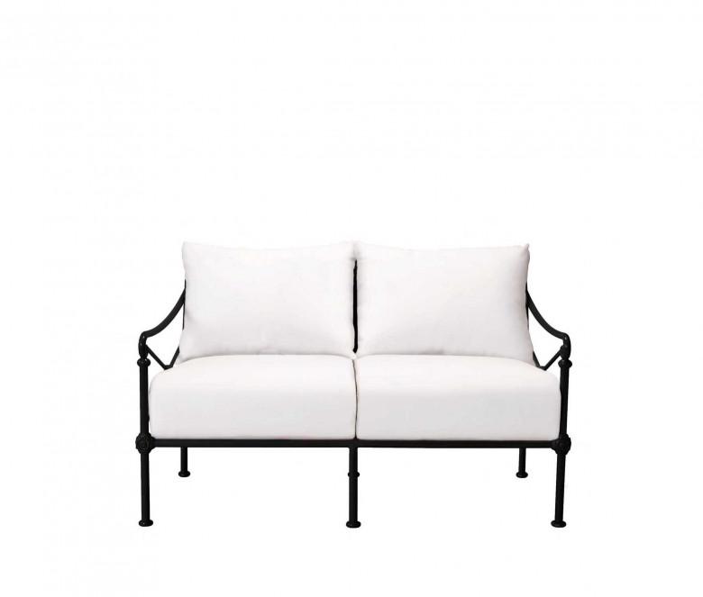 Canapé de jardin 2 places - NOIR