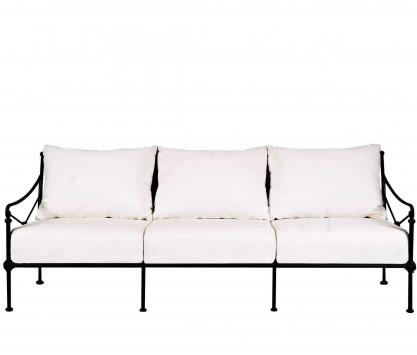 Canapé de jardin en aluminium 3 places - NOIR