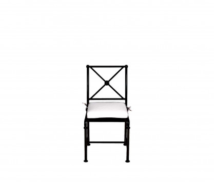 Chaise de jardin en aluminium - NOIR