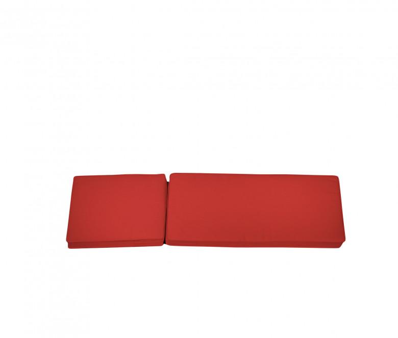 Matelas chaise longue rouge - Camarat XL