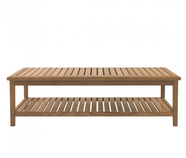 Table basse rectangulaire en teck 140 cm - Duxford