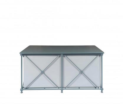 Coffre de jardin étanche en aluminium - BLEU