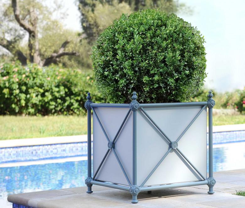 Caisse de jardin en aluminium - 1800 BLEU