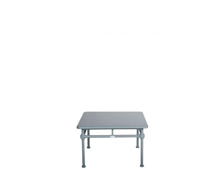 Table basse carrée en aluminium 75 x 75 cm - 1800 BLEU