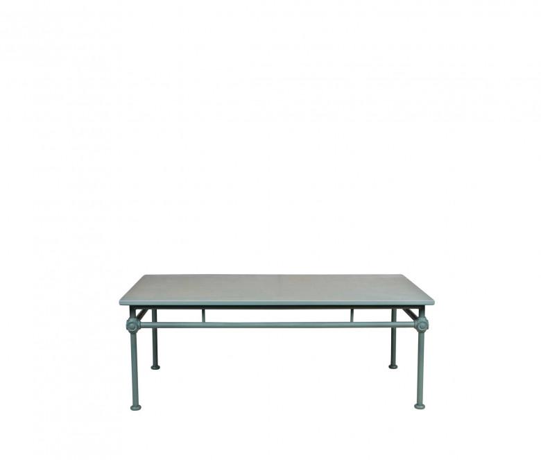 Table basse rectangulaire en aluminium - 1800 BLEU