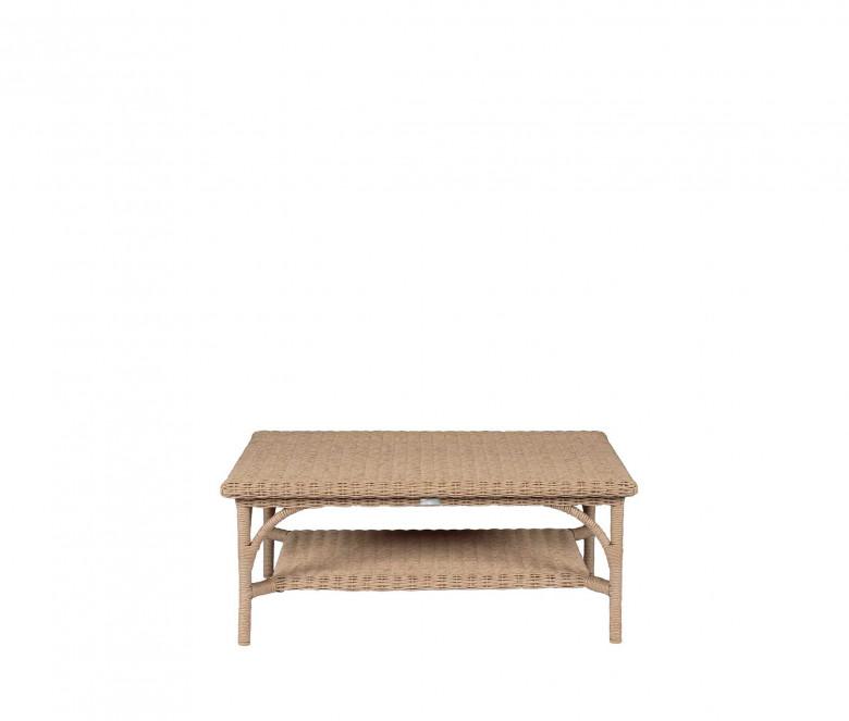 Table basse rectangulaire en résine tressée - Colonial