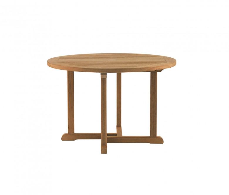 Table ronde en teck Ø 110 cm