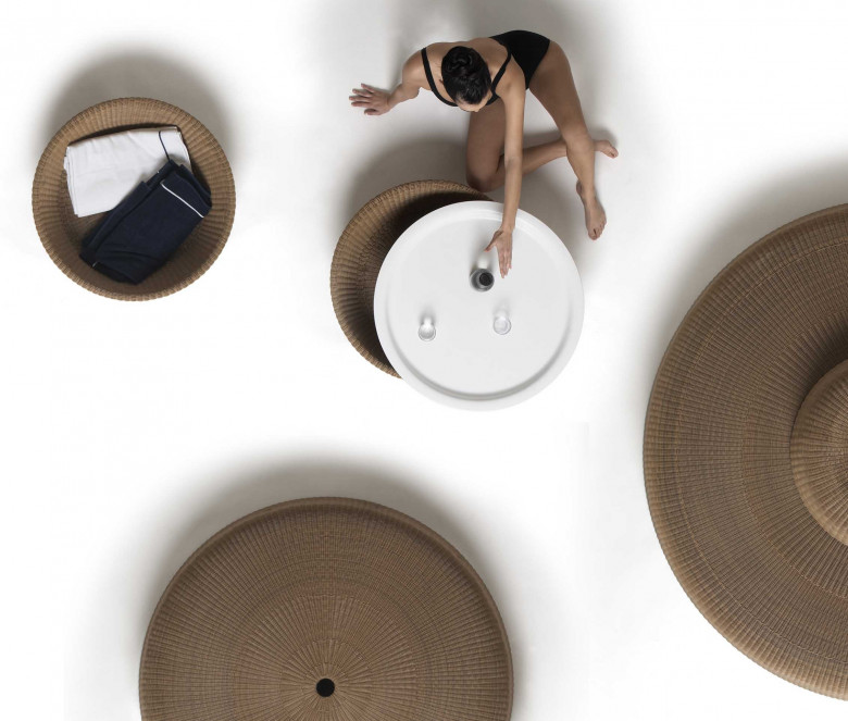 Table d'appoint design - Pebble