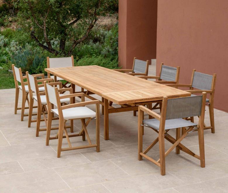 Table extensible rectangulaire en teck