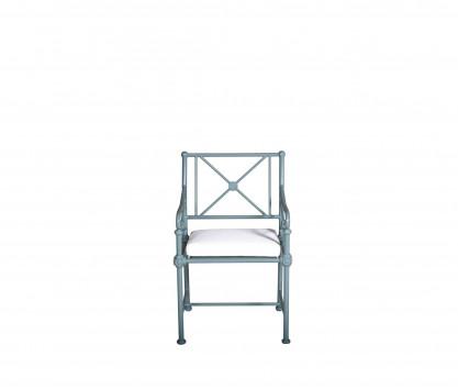 Fauteuil de jardin en aluminium - BLEU