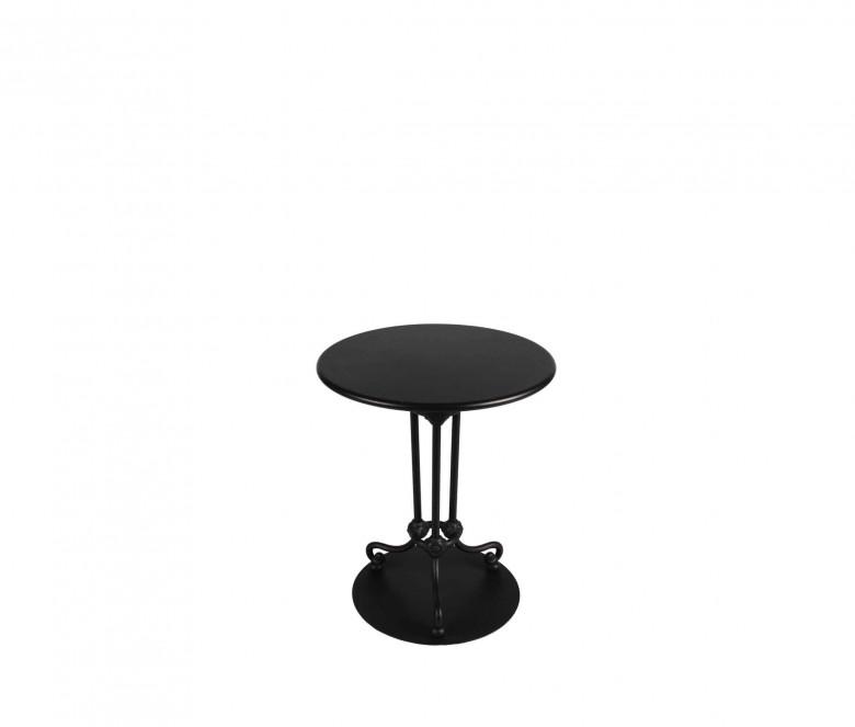 Table bistrot en aluminium - NOIR