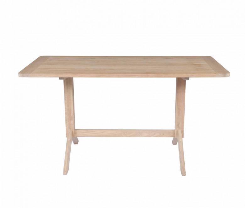 Teck tavolo rettangolare 140 x 70 cm