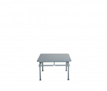 Tavolino basso quadrato in aluminio 75 x 75 cm - BLU