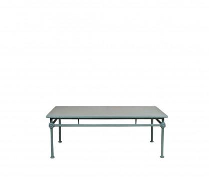Tavolino basso rettangolare in aluminio - BLU