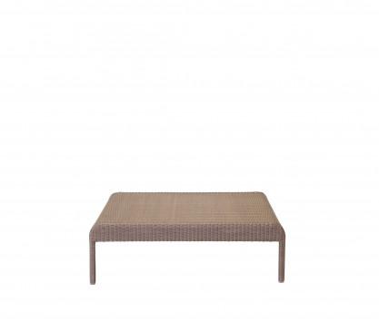 Tavolo basso quadrato in resina intrecciata