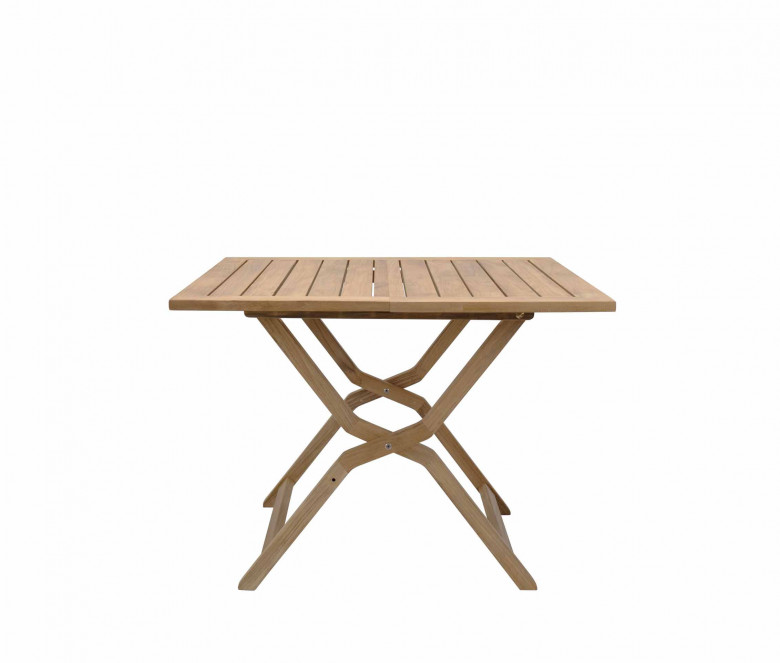 Teck tavolo pieghevole 100 x 100 cm